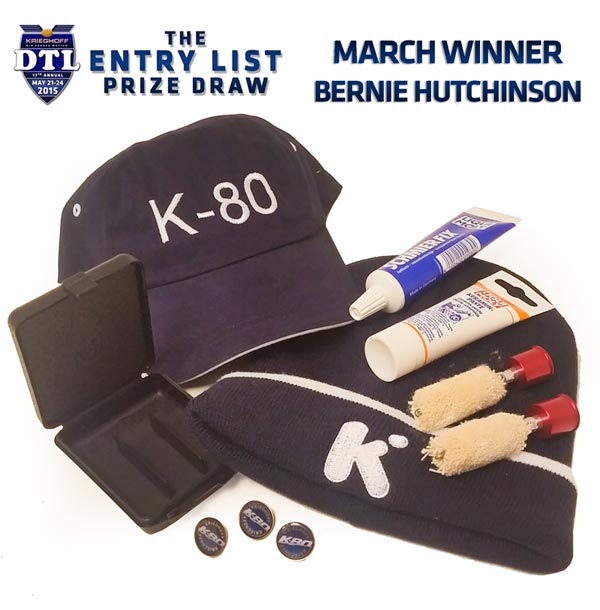 Krieghoff Entry List Prize Draw